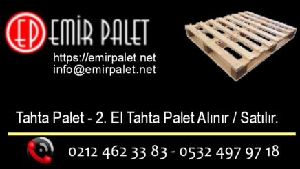 2 el tahta palet fiyatları